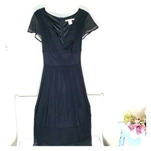 Vintage Black Chiffon Dress